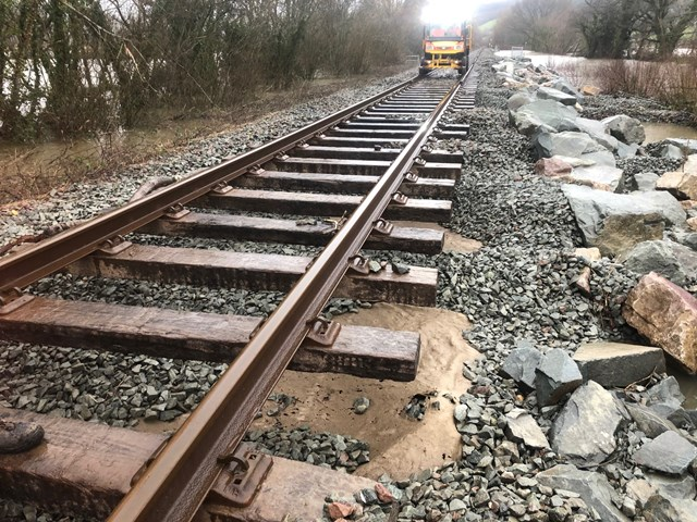 Additional work to Conwy Valley line aims to prevent long closures due to railway wash out: Conwy Valley Line 1