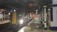 Test train at Stirling