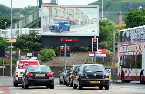 Roadside advertising Slateford Road, Edinburgh