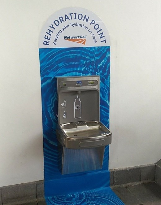 5,000 bottles refilled as free water proves a hit in stations: Drinking water fountain