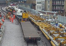 WesternapproachesKirow: New points - which allow trains to move from one track to another - are laid on the tracks to the west of London Bridge station