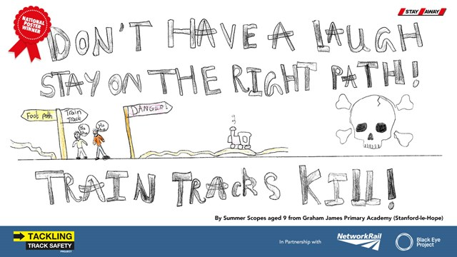 Stay off the tracks OIS Poster National Winner