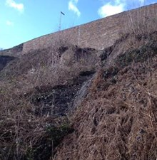 Landslip near Halifax station