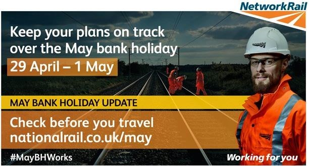 Passengers in the south east of England are advised to check before they travel this early May bank holiday: CBYTEarlyMay
