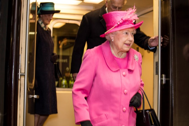 Her Majesty The Queen reopens redeveloped Birmingham New Street station: Her Majesty The Queen at Birmingham New Street