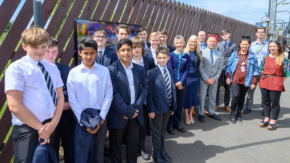 Bolton school artwork on display at Horwich Parkway station