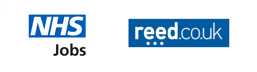 NHS Jobs and Reed logos 2