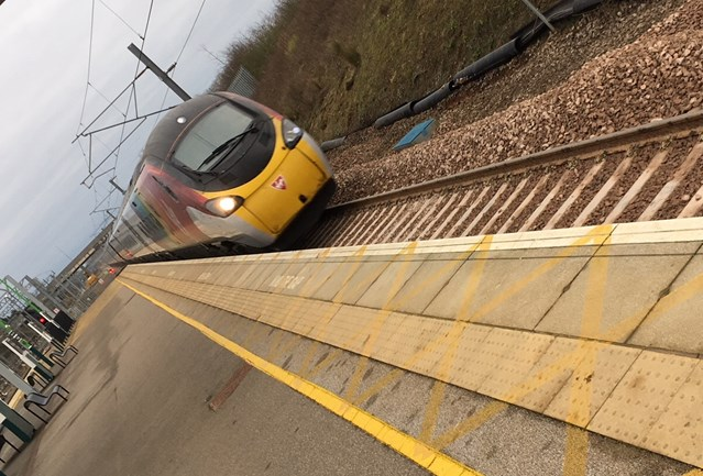 Major track upgrade at Milton Keynes station complete after Christmas overhaul: First Virgin Pendolino train passing through after Milton Keynes track renewal December 2018