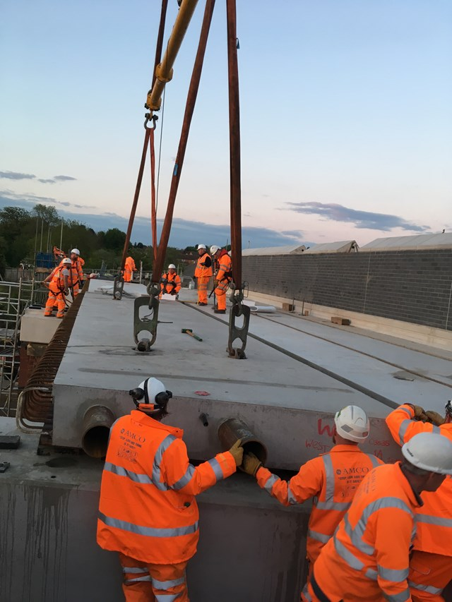 Major milestones reached in reconstruction of two Northamptonshire road bridges and upgrade to Kettering station begins 2