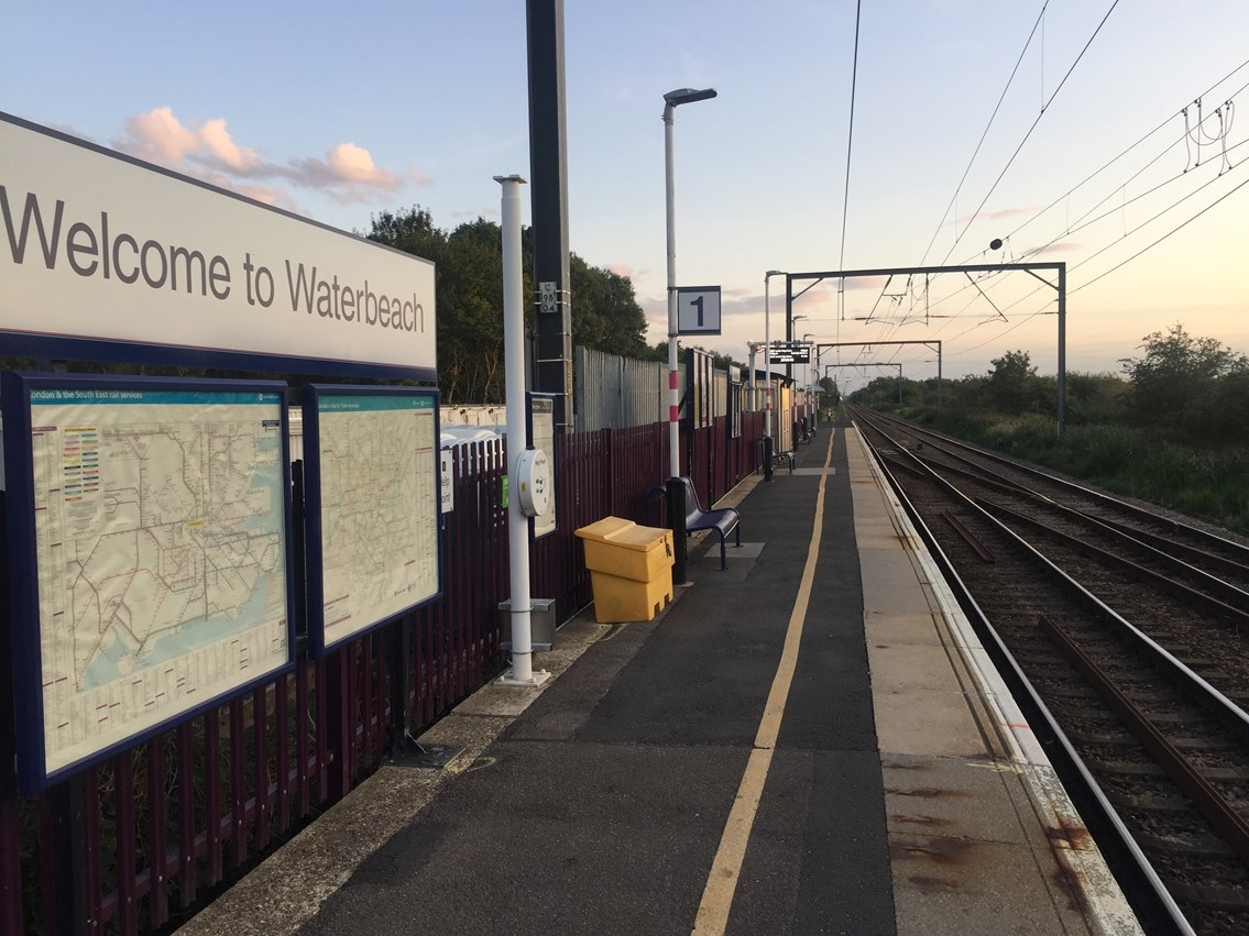Weekend work starts soon to improve Fen Line services: Waterbeach station September 2019