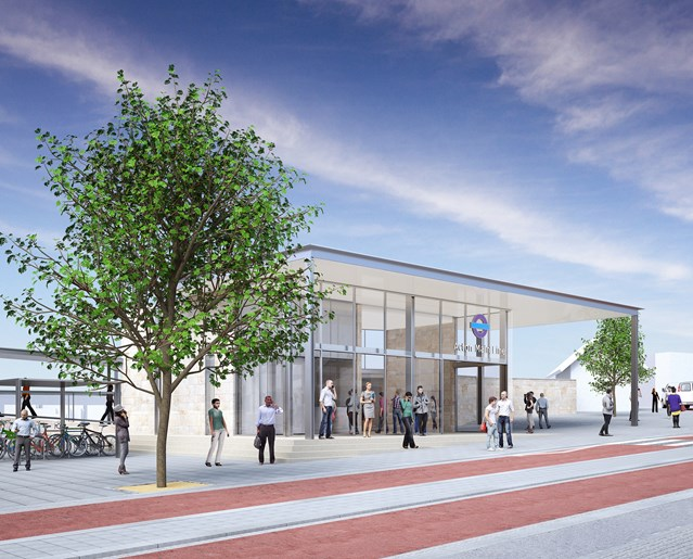Green light for major improvements at Acton Main Line station: Architects impression of Acton Main Line station 2379591