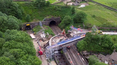 Network Rail completes the first stage of work to renew Grade II listed Standedge Aqueduct