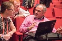 Tarek Mukassabi with Jeanette Hall and David O'Brien ©Alan Crowden