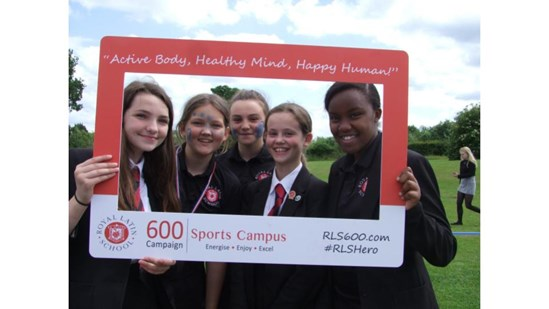 Royal Latin Students Looking Forward to Their Sports Campus: Pupils at the Royal Latin School in Buckinghamshire which has received funding from the HS2 Community and Environment Fund for a new sports campus which will be available for use by the local community.   Copyright: The Royal Latin School  Keywords: Community project, CEF & BLEF, HS2 Funds, Community and Environment Fund