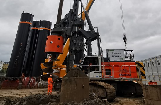 HS2 unveils eco-friendly vegetable oil fuel innovation during London Climate Action Week: HVO piling rig