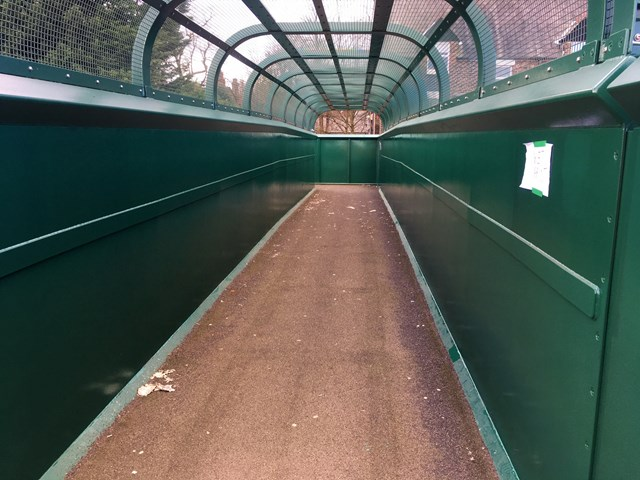 Mossley Hill footbridge after graffiti removed