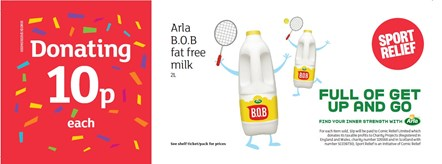 Arla and Sainsbury's get their game on for Sport Relief with donations from dairy: Sport Relief