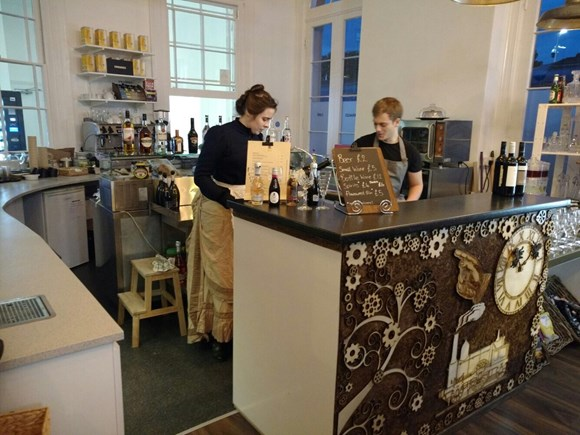 Full steam ahead at Newark Castle as Carriages Cafe opens its doors for business: Carriages 2