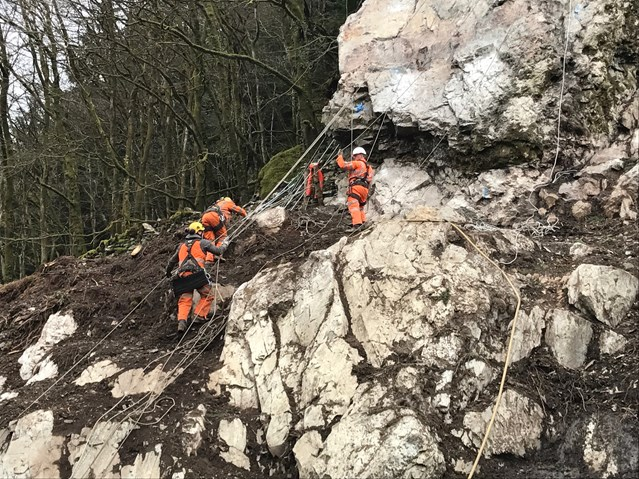 VIDEO: Network Rail reopens Conwy Valley line following Storm Doris damage: Repairing the Conwy Valley Line
