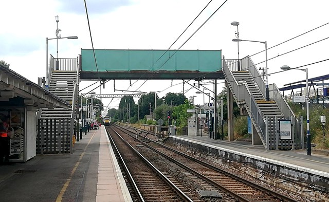 Network Rail is restoring access between platforms for passengers at Royston station next month: Royston station footbridge which closed spring 2020. Photo credit, Govia Thameslink Railway