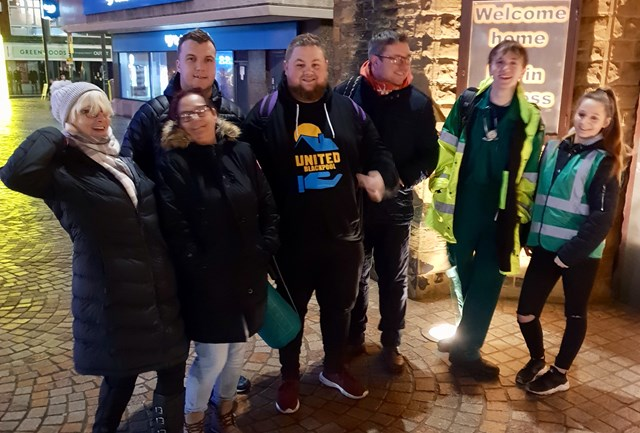 Chris Conway and United Blackpool volunteers