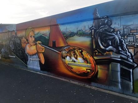St Helens Footbridge Mural 2