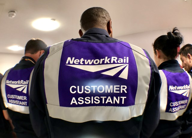 Passengers advised to look for purple uniforms in stations for extra help: Backs of the new purple uniforms worn by Customer Assistant staff