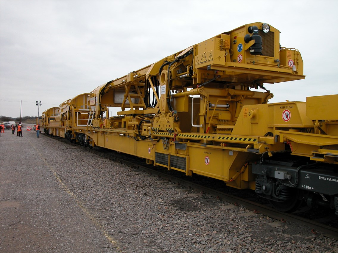 High Output Renewals Train: Equipment used in Network Rail's £750 million renewal programme for the Western Route