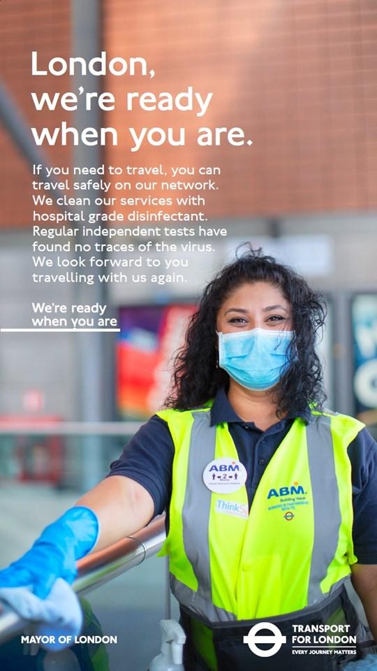 TfL image - London Underground cleaning - we're ready