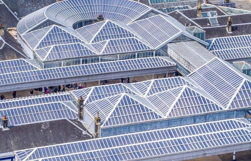Network Rail invests £3 million to refurbish station roof at Stirling: Stirling glazed roof