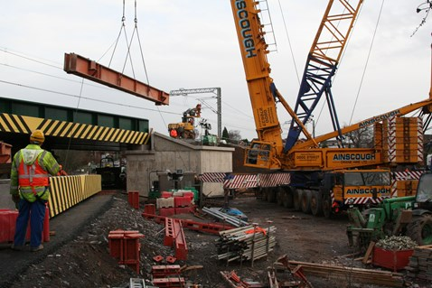 Construction of New Road Bridge, Armitage
