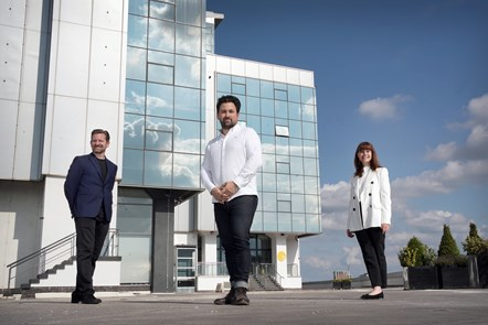 Left to right are Paul Wilson, Gregor Aikman and Evelyn McDonald of Filament STAC (by Stewart Attwood)