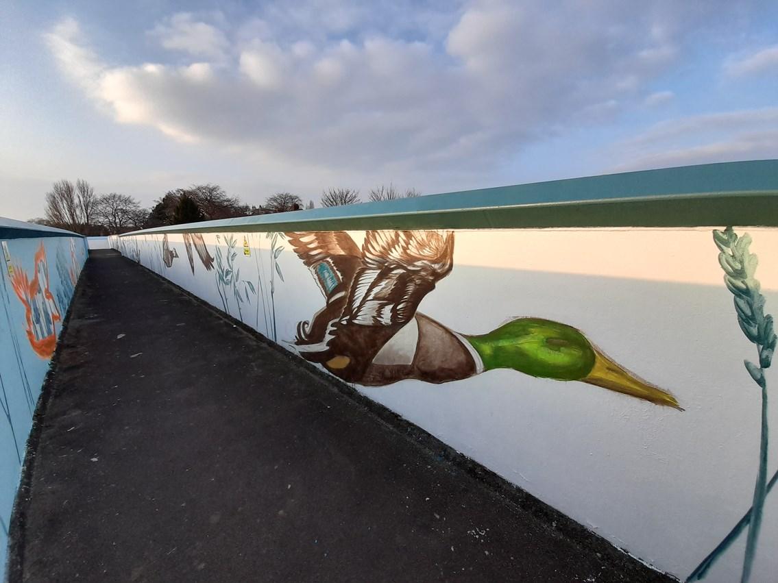 Network Rail continues to brighten up York bridges and help tackle graffiti, Photo credit Emma Garness