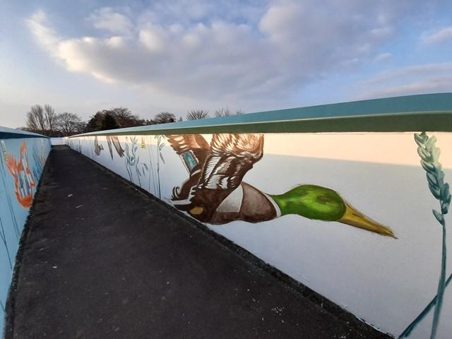 Network Rail continues to brighten up York bridges and help tackle graffiti: Network Rail continues to brighten up York bridges and help tackle graffiti, Photo credit Emma Garness