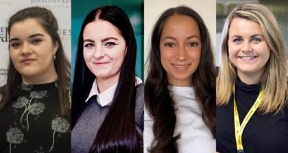 Siemens targets gender parity in Early Careers recruitment to increase women in engineering: IWED21 - Siemens UK - LtoR - Helen Brindley Olivia Kelly Natalie Gristwood Sian Court