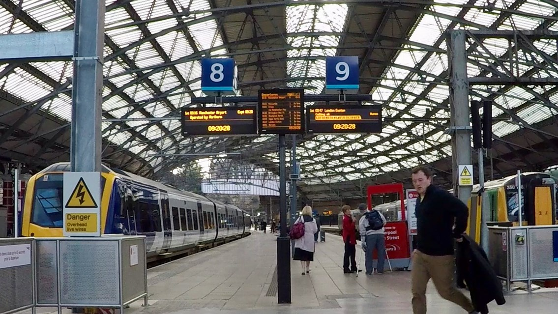 Network Rail's North West & Central region hits important devolution milestone: Platforms 8 and 9 at Liverpool Lime Street station