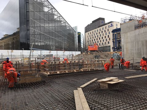 London Bridge concourse foundations