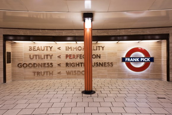 TfL Press Release - British Sign Language led tours of the artworks on London Underground for Deaf Awareness Week: TfL Image - Langlands & Bell, Beauty Immortality 2016 1