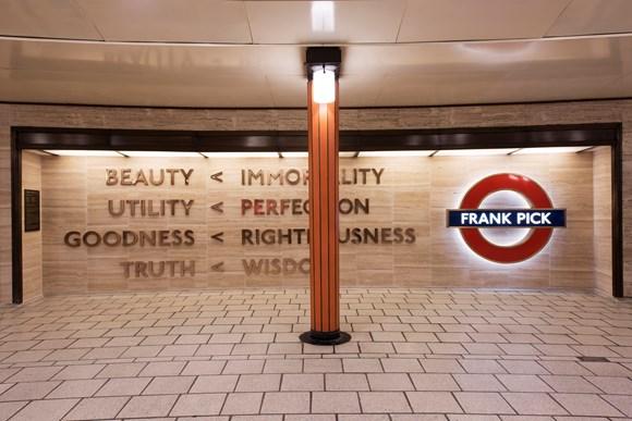 TfL Press Release - British Sign Language led tours of the artworks on London Underground for Deaf Awareness Week: TfL Image - Langlands & Bell, Beauty Immortality 2016 1