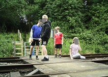 Network Rail and British Transport Police issue further warning in East Midlands as new images show children dicing with death at level crossing 4-2