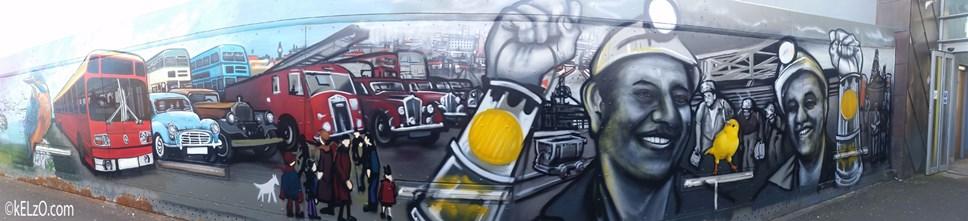New muralpays homageto St Helens: St Helens Footbridge Mural 1