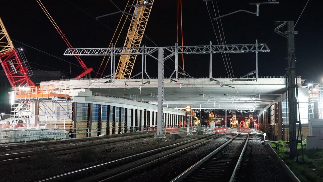 Bletchley flyover rebuild May 2021