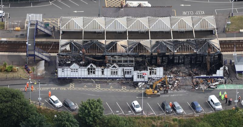Work under way to assess fire damage at Troon station: Troon station