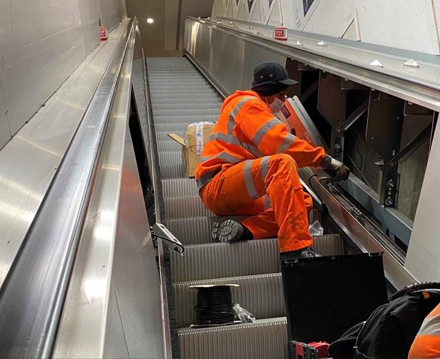UV handrail sanitiser installation 3