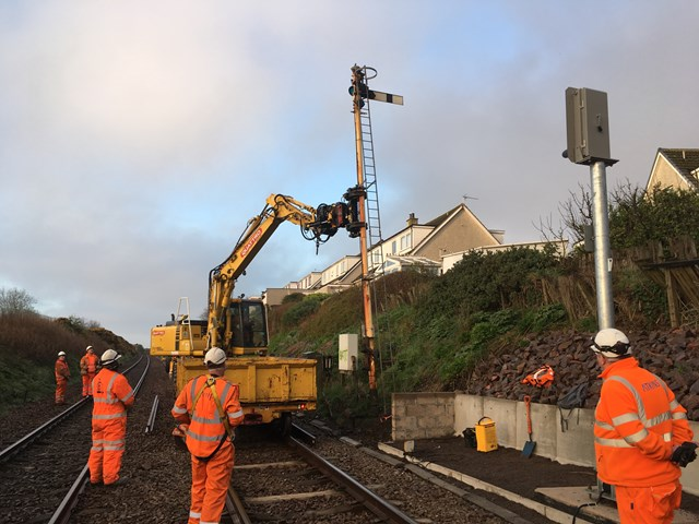 Aberdeen-Stonehaven railway upgrade successfully delivered: 28 April Out with the old Hi Res