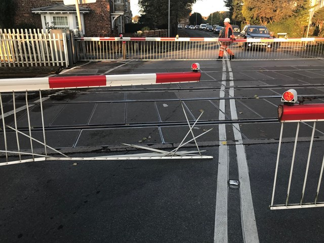 Network Rail urges people in East Yorkshire to use level crossings safely after driver hits barrier in shocking incident