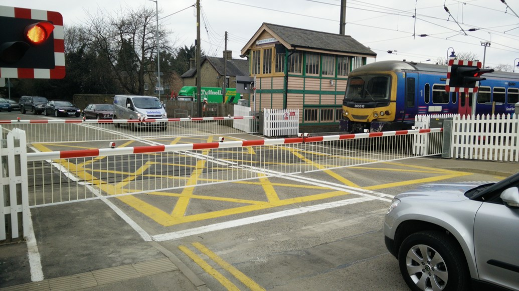 Norfolk level crossing is upgraded to improve safety and reliability: Downham Market level crossing Norfolk