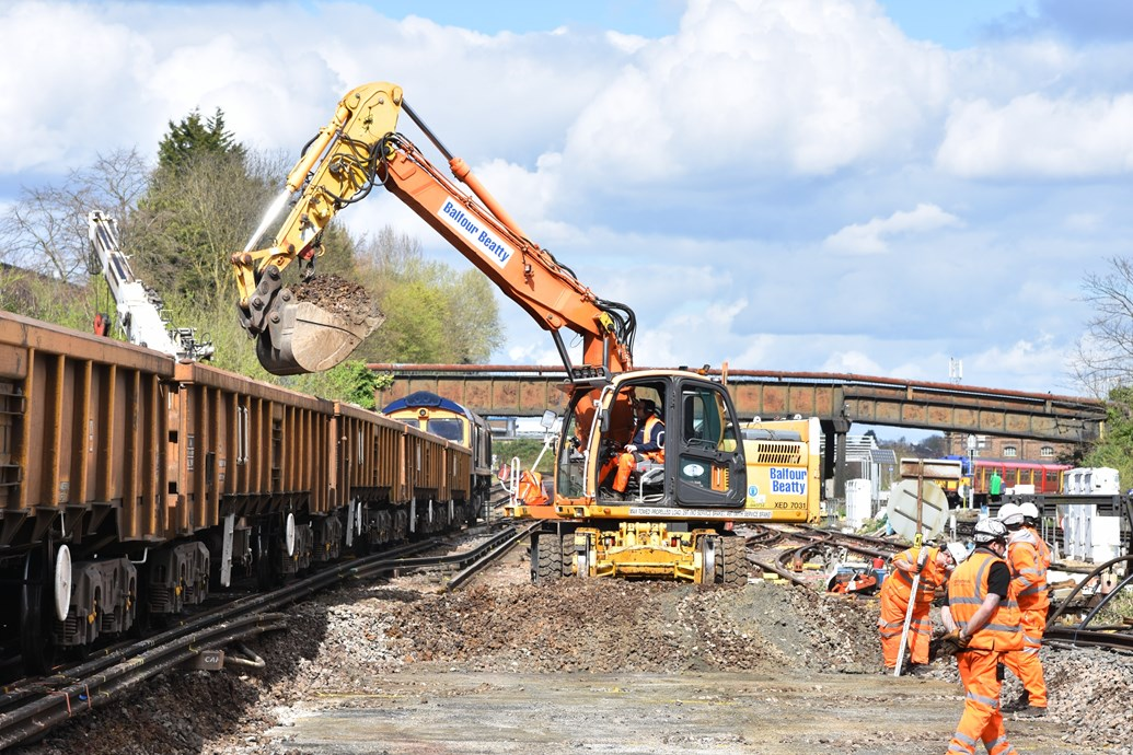 VIDEO: Network Rail completes first weekend of railway upgrades at Guildford: Large sections of track at Guildford station were removed and replaced