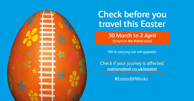 Passengers reminded to plan ahead of £118m Easter upgrade to Britain's rail network: Easter 2018-CBYT