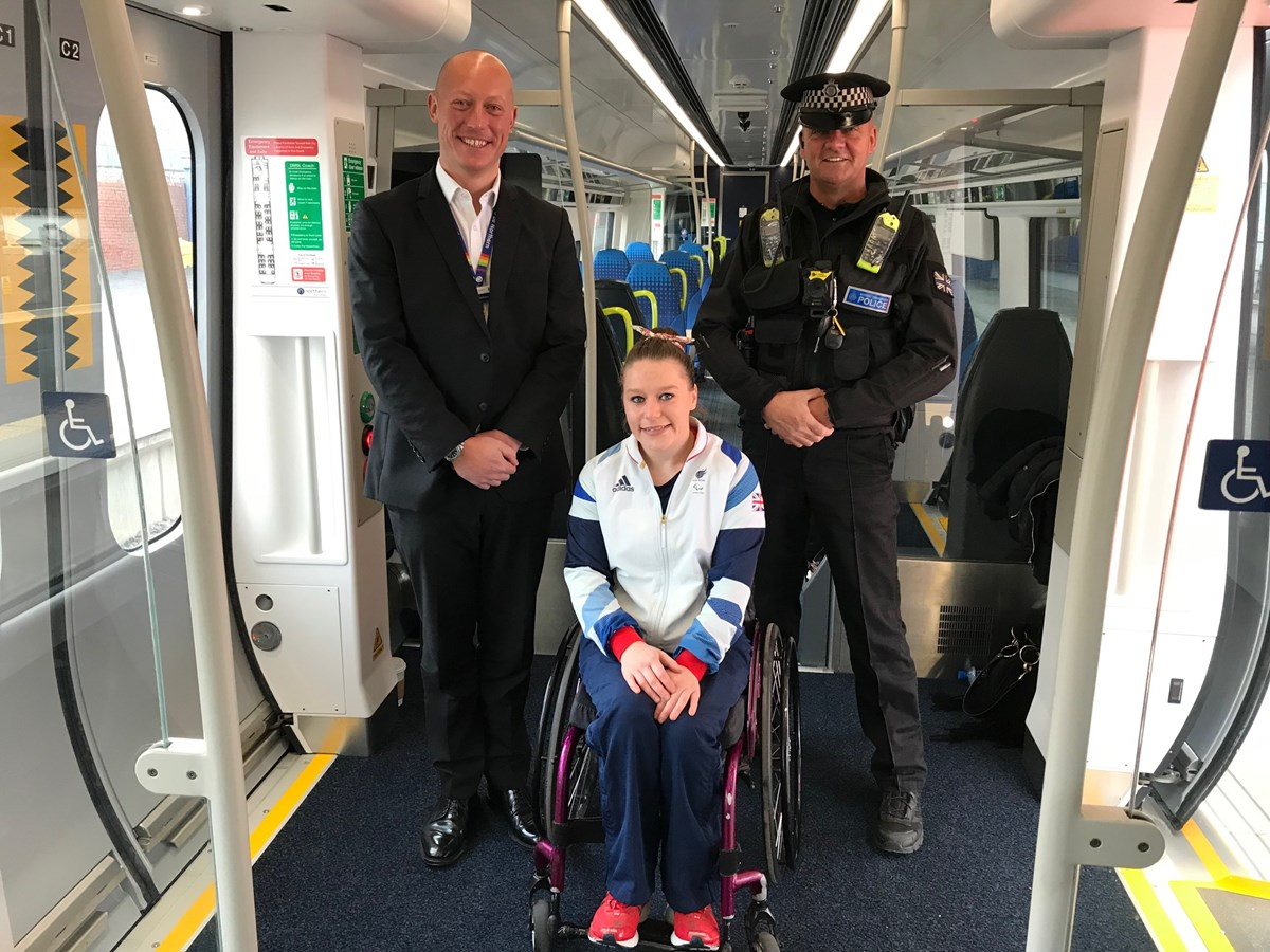 Justine Moore 2: PC John Phillips of BTP and Northern's Regional Director Chris Jackson have worked together to sponsor Justine Moore ahead of the Tokyo Paralympics